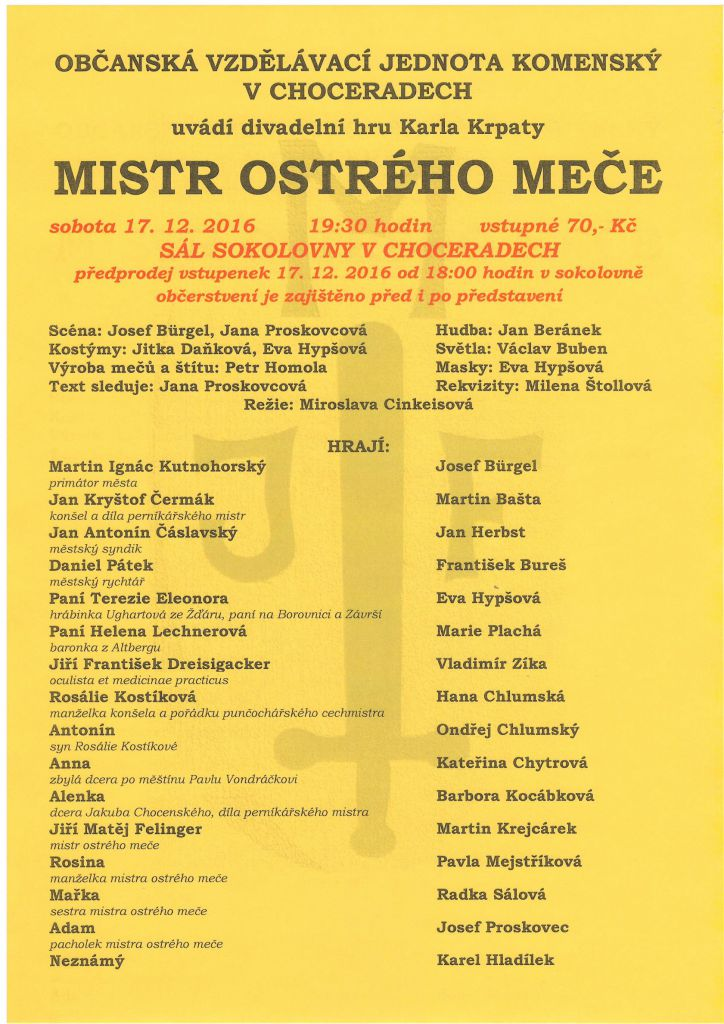 Divadelní představení OVJ Komenský